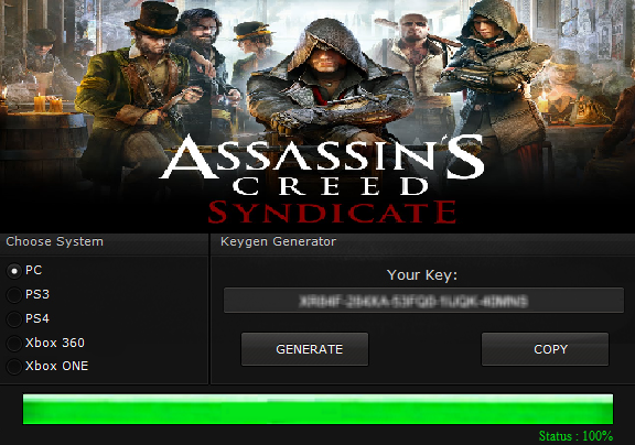 Assassin's Creed Syndicate Serial CD Key Generator