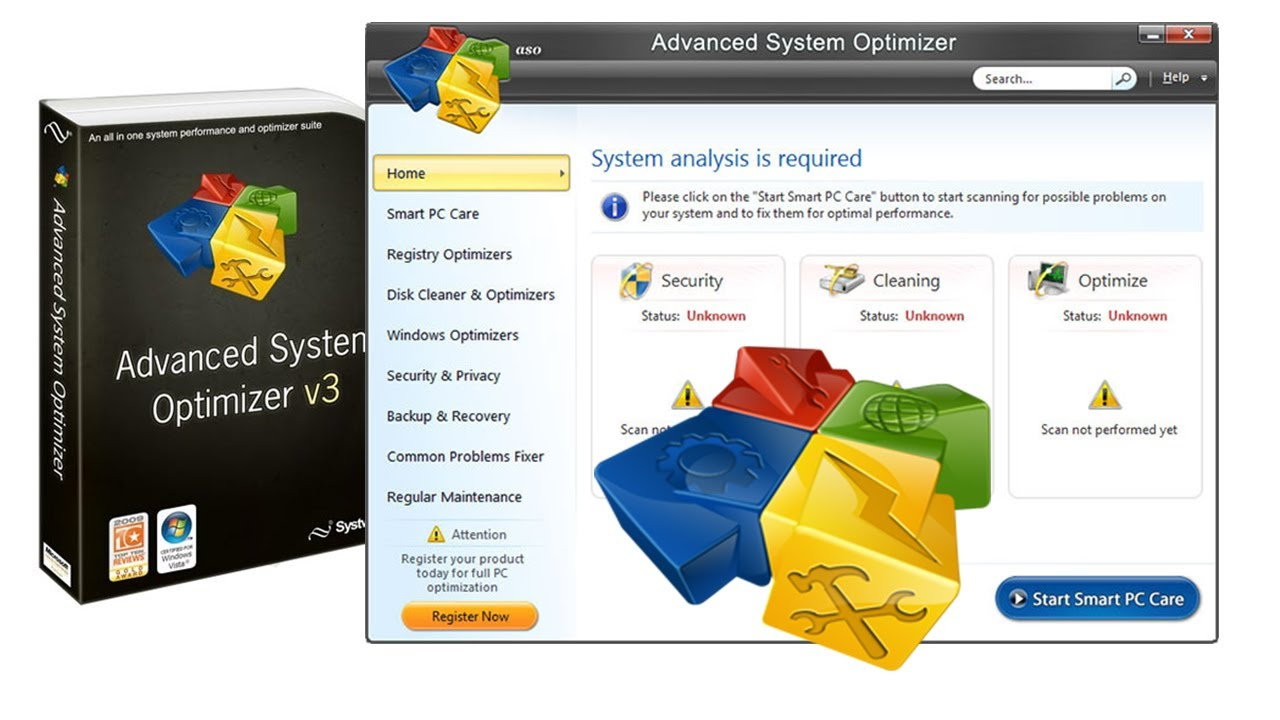 Advanced System Optimizer 3.9 Crack + Serial Key Download