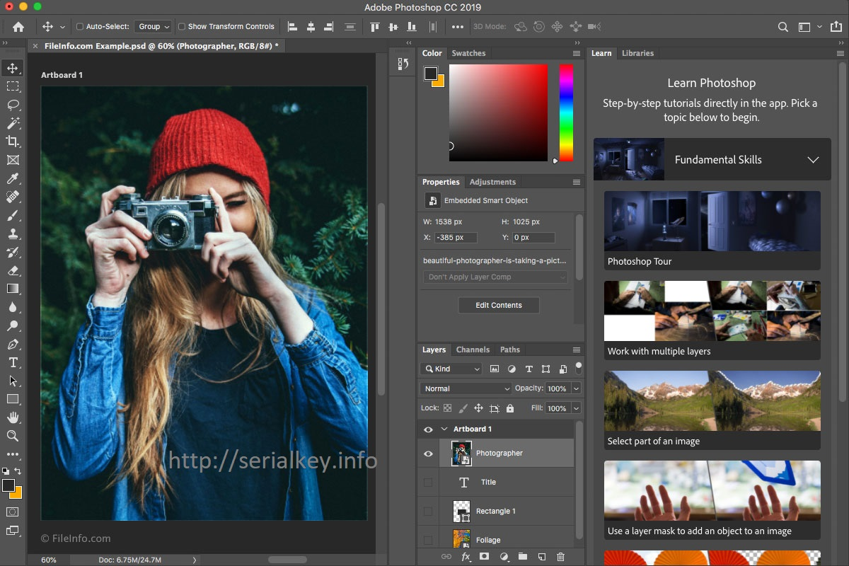 Adobe Photoshop CC 2020 Crack + Serial Key Free Download Latest