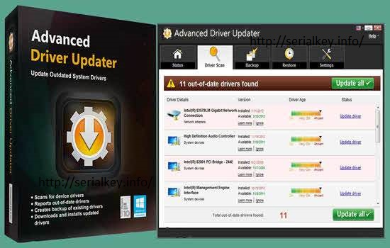 Advanced Driver Updater 4.5 Crack With Serial Key Full Download 2019